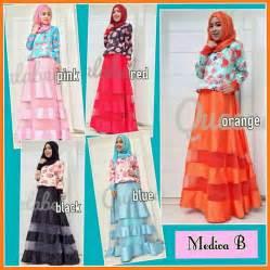 Gamis Longdress Terusan Panjang Muslim Yola Maxi mediva fashion butiq