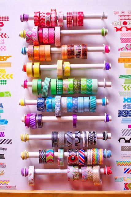 diy washi diy washi tape holder made from pvc washi tape
