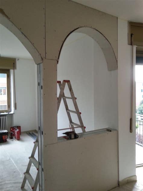 libreria ad arco veletta in cartongesso idee ristrutturazione casa