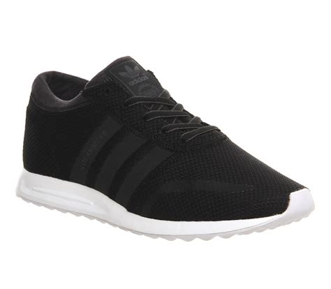mens adidas los angeles black white reflective trainers