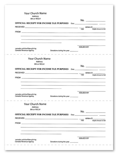 church receipt template other recording supplies