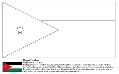 coloring pages of jordan s flag flag of jordan coloring page free printable coloring pages