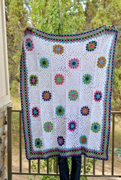 Or Blanket Matilda A Belated Blanket Maybe Matilda Crochet Modern Colors And Stripes