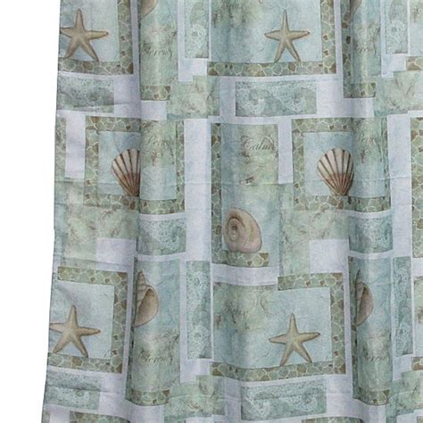 jc penny shower curtains spa shells shower curtain jcpenney beach house pinterest