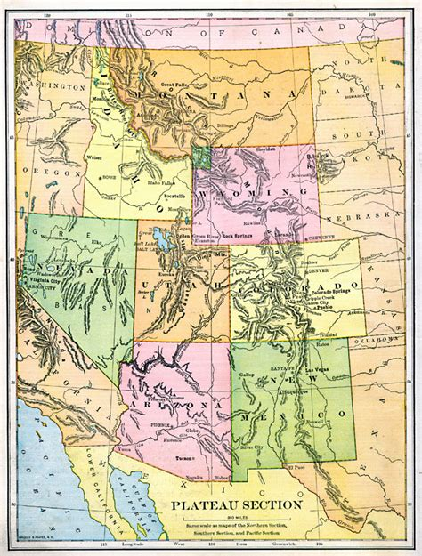 United States Sections by Plateau Section Of The United States