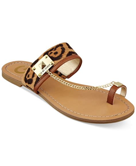 Flat Shoes G lyst g by guess s lucia toe ring flat sandals
