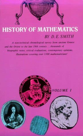 a account of the history of mathematics books history of mathematics volume 1 by david eugene smith