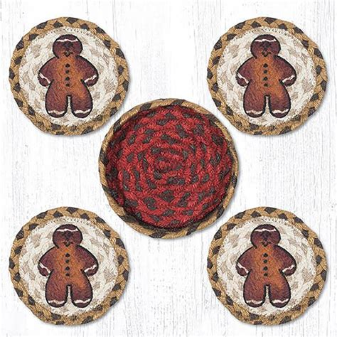 braided rug coasters gingerbread braided coaster set by capitol earth rugs the patch