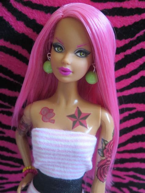 barbie with tattoos hair tattoos