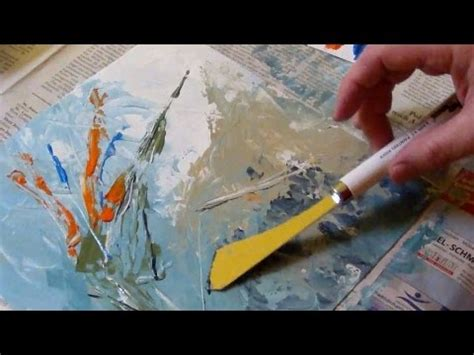 acrylic painting with knife acrylic painting with a palette knife no brush painting