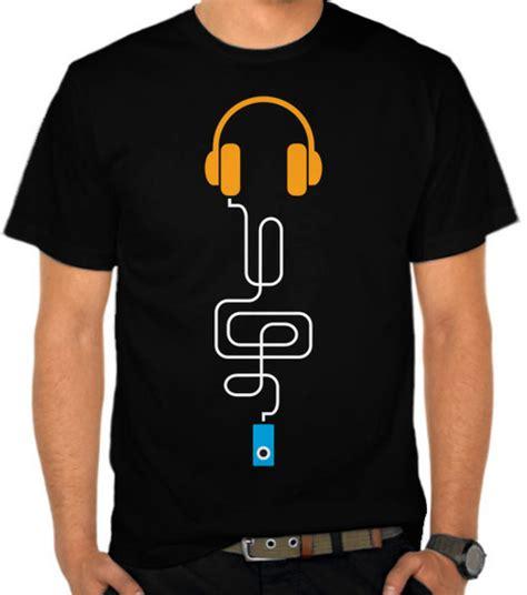 Kaos Distro Murah Seven Daily Casual Logo 30 jual kaos headphones iphone musik casual satubaju