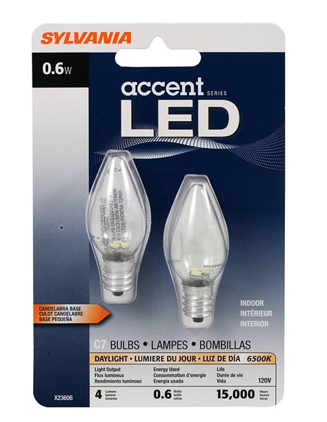 c7 led light bulb sylvania 78563 0 6 watt accent led c7 light bulb
