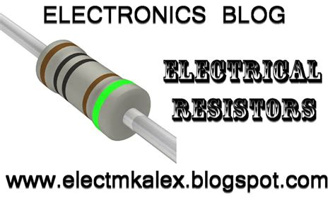 what does resistor do electrical resistors thermistors