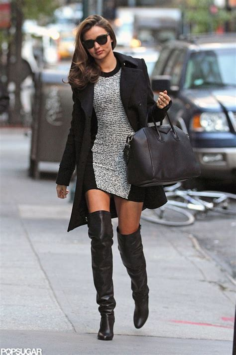 miranda kerr wearing thigh high boots in nyc pictures