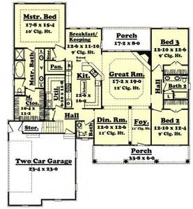 2400 Square Foot House Plans Country Style House Plans 2400 Square Foot Home 1 Story 3 Bedroom And 2 Bath 2 Garage