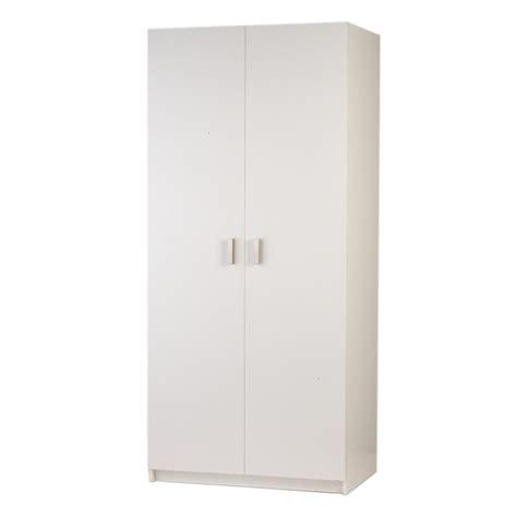 White Freestanding Wardrobe - bedford 900mm white 2 door wardrobe bunnings warehouse