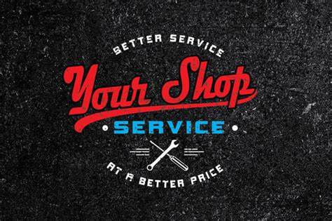 custom vintage auto shop logo custom auto body logo custom auto service logo custom logo