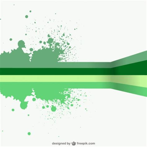 free design vector templates green lines and paint splashes background vector free