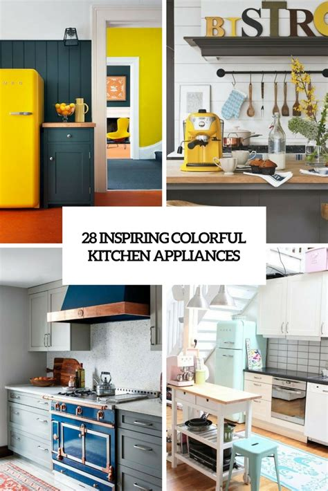 colorful kitchen appliances yellow and grey kitchens the top home design