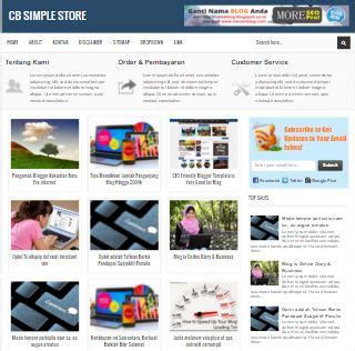 Cb Simple Store Template Blog Toko Online Seo Responsive Terbaru New Johny Wuss Simple Store Template