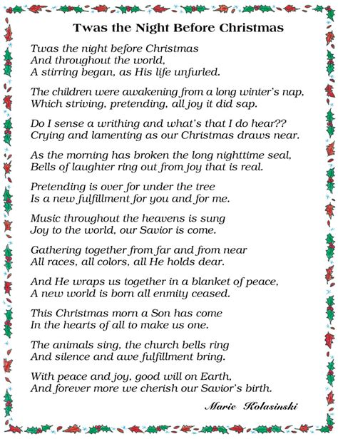 the night before christmas poem exchange gift search results for twas the before words calendar 2015