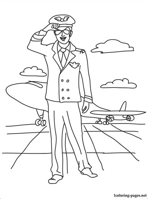 Airman Coloring Page Pages