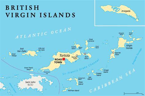 crewed yacht charters  bvi british virgin islands map