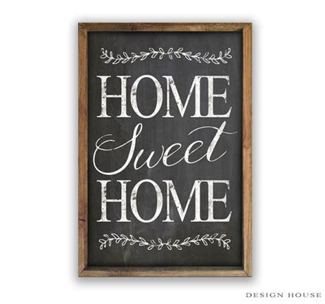 home sweet home chalkboard look wooden sign framed