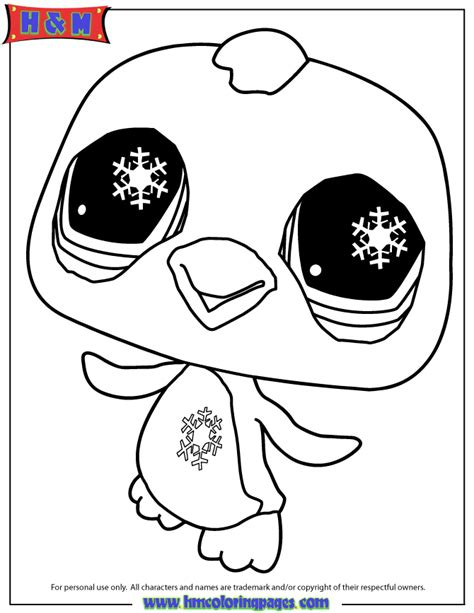 lps coloring book pages littlest pet shop penguin coloring page free printable