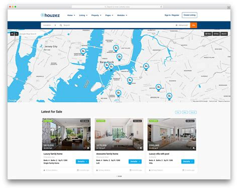 property listing website template 40 best real estate themes for agencies