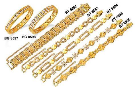 Gelang Kaku Lapis Emas 24k Permata Zircon 4 zhulian perhiasan berlapis emas bio magnetik