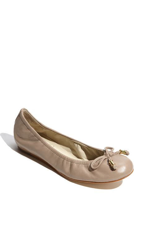 ivanka flats shoes ivanka magnoli flat in brown iced taupe lyst