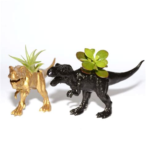 Dinosaur Planter by T Rex Dinosaur Planter With A Plant