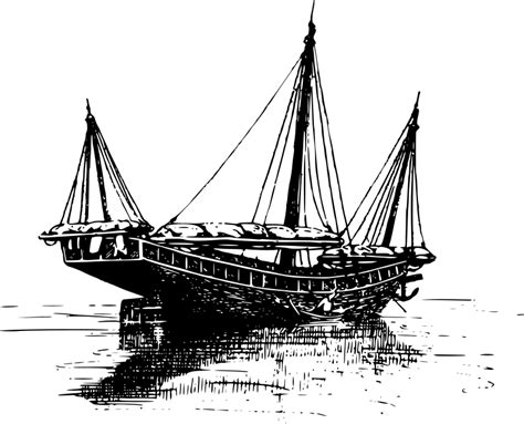 junk boat drawing clipart chinese junk