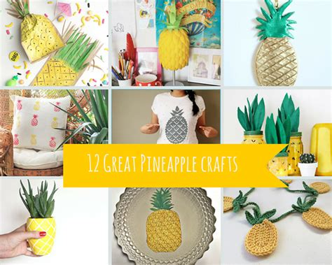 great crafts 12 great pineapple crafts pillar box blue