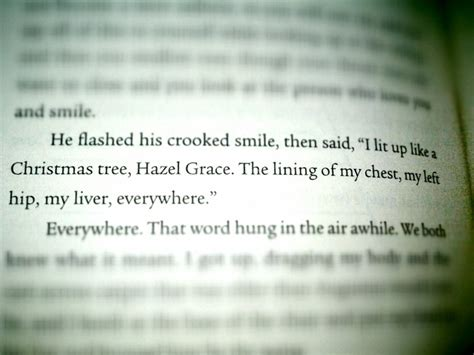 quot i lit up like a christmas tree hazel grace quot the fault