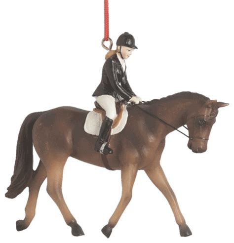 midwest cbk horse riding christmas tree ornament