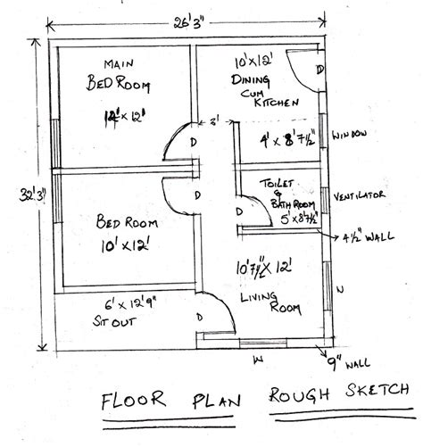 How To Draw Floor Plans Using Autocad Escortsea Autocad House Plan Tutorial
