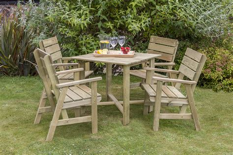 table 4 chair wooden dining set garden