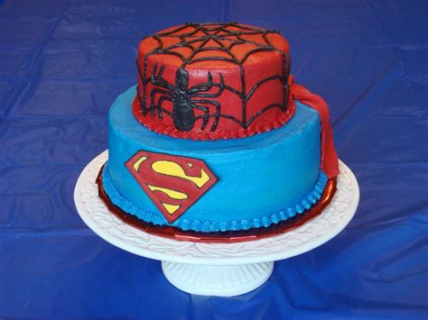 pin sab cakes spiderman birthday cake home decorating and buttercream decorated superman spiderman cake with