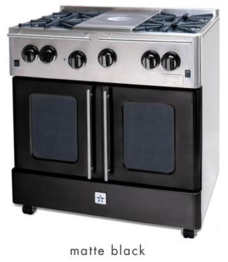 matte black appliances blue star precious metals collection