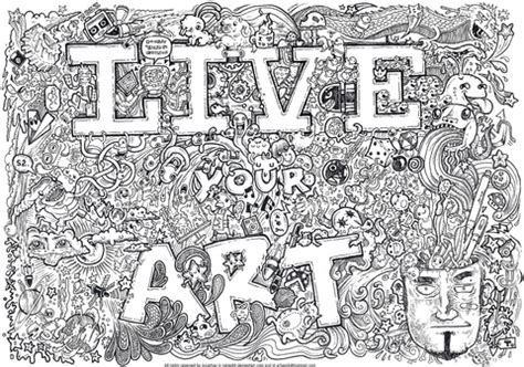 free doodle site live your doodle coloring page free printable