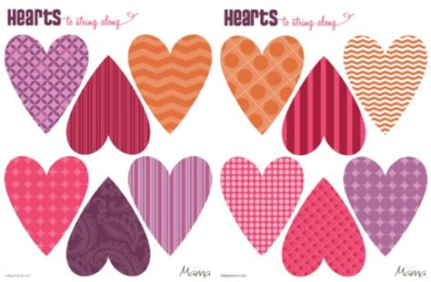 printable hearts for valentines day printable template for valentine s day todaysmama