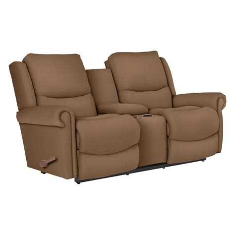 Recliner Loveseat With Console by La Z Boy 390746 Duncan Reclina Way Reclining Loveseat