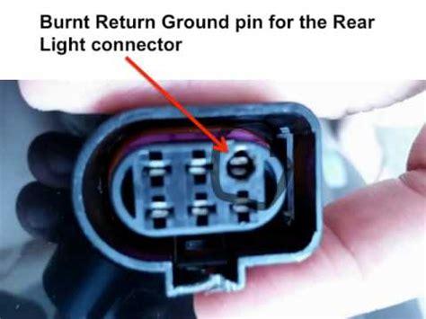 audi tt rear light cluster audi tt left rear ground