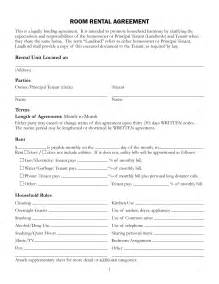 Template For Room Rental Agreement Free Printable Rental Lease Agreement Form Template