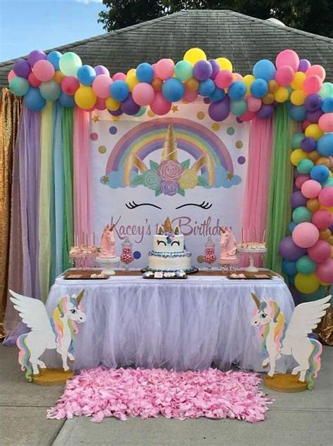 como decorar fiesta de unicornio fiestas infantiles de unicornios con las mejores ideas