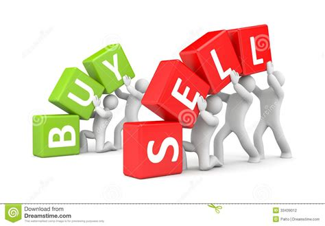 buy a buy and sell stock photography image 33439012