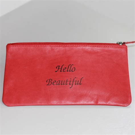 Hello Make Up Pouch leather hello beautiful make up bag by chapel cards notonthehighstreet