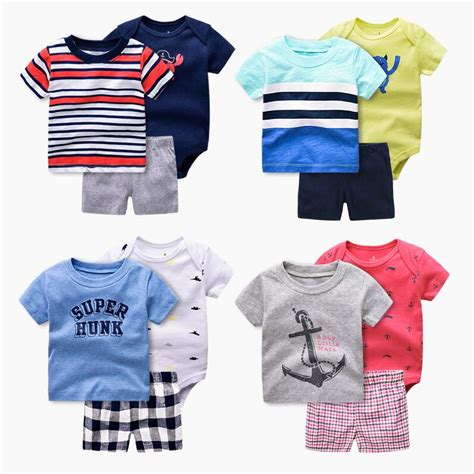 new year 2018 baby clothes new summer 2018 baby boy clothing set boy clothes